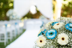 Floral decorations for wedding. Floral decorations for an outdoor wedding Stock Images