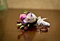 Floral decorations. For a wedding in the restaurant Royalty Free Stock Image