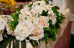 Floral decorations. For a wedding in the restaurant Royalty Free Stock Images