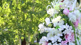 Floral decorations stock footage