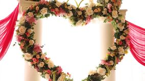 Floral decorations stock video footage