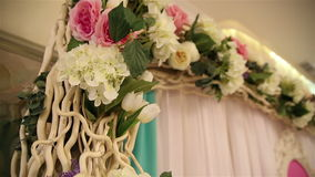 Floral decorations stock video