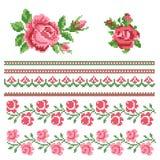 Floral decorativ element Stock Images