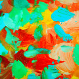 Floral decorative abstract painting for interior, background, il Stock Photos