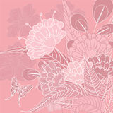 Floral decorative background Stock Images