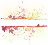 Floral Decorative banner Royalty Free Stock Images
