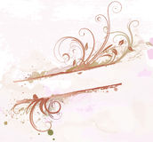 Floral Decorative banner Stock Photography