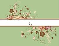 Floral Decorative banner Stock Image