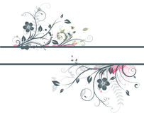 Floral Decorative banner Royalty Free Stock Photo