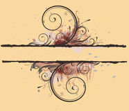 Floral Decorative banner Royalty Free Stock Image