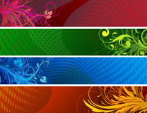 Floral Decorative banners Stock Image