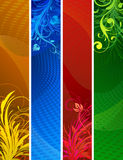 Floral Decorative banners Stock Photos