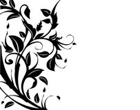 Floral decorative border. Background with room for text vector illustration