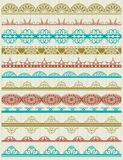 Floral decorative borders, ornamental rules, divid. Ers, vector Royalty Free Stock Photos