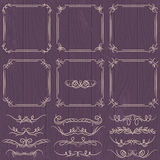 Floral decorative borders, ornamental rules, divid. Ers, vector Royalty Free Stock Photo