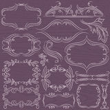 Floral decorative borders, ornamental rules, divid Royalty Free Stock Photography
