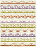 Floral decorative borders, ornamental rules, divid Stock Photography