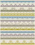 Floral decorative borders, ornamental rules, divid Royalty Free Stock Image