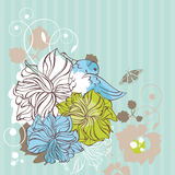 Floral decorative card Royalty Free Stock Image