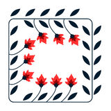 Floral decorative card Royalty Free Stock Images