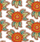 Floral decorative colorful seamless texture. Background with ornate flowers Royalty Free Stock Photo