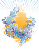 Floral decorative composition Royalty Free Stock Photography