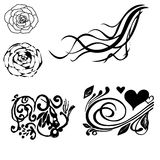 Floral decorative corner set Vector illustration. royalty free illustration