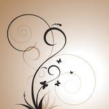 Floral decorative design royalty free illustration