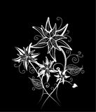 Floral decorative design Stock Photo