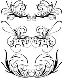 Floral decorative design elements Royalty Free Stock Image