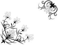 Floral decorative element for corner design Stock Images
