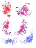 Floral decorative elements Stock Photos