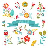 Floral decorative elements Stock Image