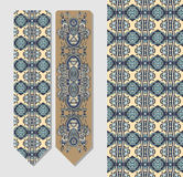 Floral decorative ethnic paisley bookmark  Royalty Free Stock Photography