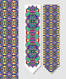 Floral decorative ethnic paisley bookmark for Stock Photo