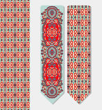 Floral decorative ethnic paisley bookmark for Stock Photos