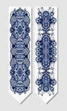 Floral decorative ethnic paisley bookmark for Royalty Free Stock Photo