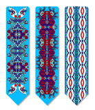 Floral decorative ethnic paisley bookmark for Royalty Free Stock Photography