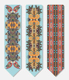 Floral decorative ethnic paisley bookmark for Stock Images