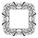 Floral decorative filigree frame for cards or invitation. Vector illustration isolated on white background Stock Image