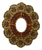 Floral decorative folk art frame. A decorative wooden folk art frame painted with flowers Stock Photos