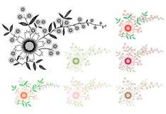Floral Decorative Frame Stock Photos