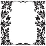 Floral decorative frame Royalty Free Stock Photo