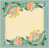 Floral decorative frame Royalty Free Stock Images