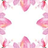 Floral decorative frame stock illustration