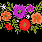 Floral decorative frame Stock Photo