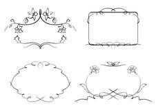 Floral decorative frames - set - vector Royalty Free Stock Photos