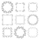 Floral decorative frames - set - vector Royalty Free Stock Photo