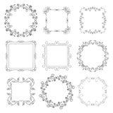 Floral decorative frames - set - vector. Floral decorative frames - vector set royalty free illustration