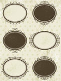 Floral decorative frames,  vector Royalty Free Stock Photo